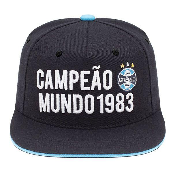 BONÉ PERSONALIZADO GRÊMIO - ABA RETA CAMPEÃO MUNDIAL - SuperCap 838195dadee